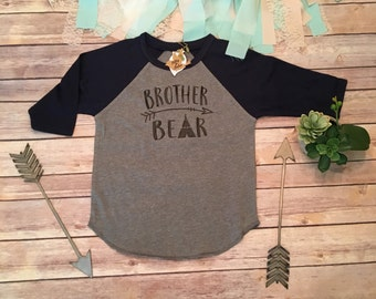 Brother Bear Shirt, Brother Shirts, Pregnancy Reveal, Family Shirts, Baseball Shirts, Baseball Sleeves, Im Going to be a Big Brother Shirt