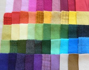 Teinte de vente à la main en laine feutrée des chutes lot numéro 1412 quilting Acres Rug Hooking Applique laine sou tapis en laine