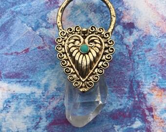 Boho Quartz Crystal Pendant Necklace