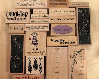 SUPPLY DESTASH - Miscellaneous Rubber Stamps