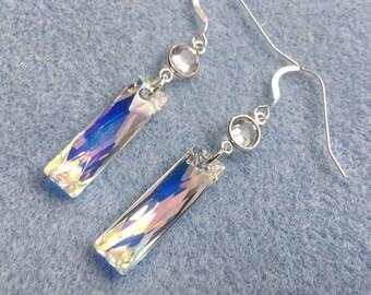 Queen Baguette Crystal Earrings