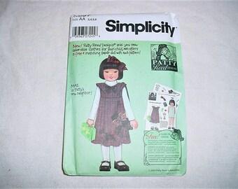 Girls 3 4 5 6 Mae Jumper Scottie Bag & Hairbow Pattern Simplicity Uncut Patty Reed Designs