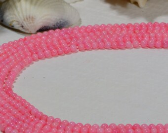 Pink Coral 3mm Round Pink Coral Beads Jewelry Making Supplies