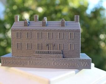 3D Printed Rockledge Mansion Ornament