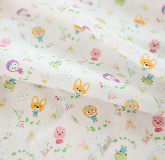 Penguin pororo crong eddy loopy petty korean anime character penguin pororo crong eddy loopy petty korean anime character fabric made in korea half yard from sewingdoingshop on etsy studio altavistaventures Image collections