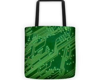 Computer Circuits Designer Tote Bag