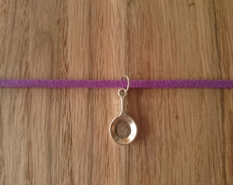Beautiful purple choker with 5 Disney inspired interchangeable charms! - 12-15""