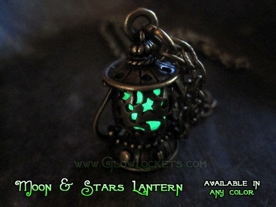 Bronze Fairy Lantern with Moons and Stars