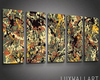 Abstract Metal Wall Art Pollock 10 Ready to Hang