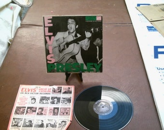 Elvis Presley 1956 1st LP Debut Album RCA LPM 1254 Pink Green Letters Self Title