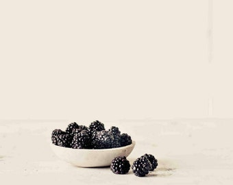 Food Photography, Blackberries Picture, Modern Farmhouse Art, Rustic Kitchen Wall Art, Fruit Photography, Shabby Chic Wall Art, Foodie Gift