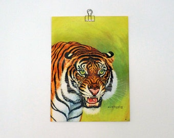 Vintage Tiger Print