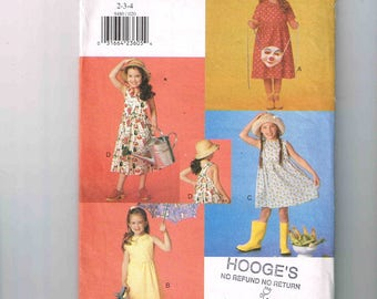 """Uncut Girl's, Vogue for Me Dress Pattern, Vogue #9480, Sizes 2, 3, 4 Chest 21 - 23"""" (53 - 58cm), Fitted Bodice, A-Line Skirt, Very Easy"""