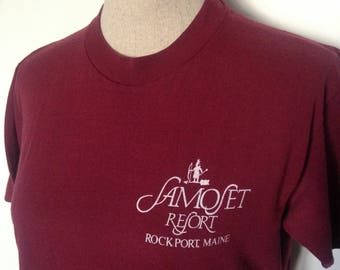 Vintage Samoset Resort Maine 80s Rockport Tshirt
