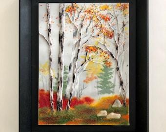 Fused Glass, Handmade Fused Glass, Fused Glass Wall Panel, Fused Glass Art,