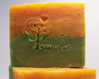 Melon Mango Soap - Olive Oil Cold Processed Soap~ Vegan Soap