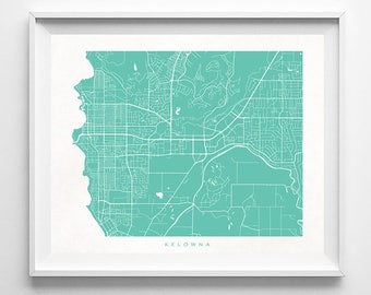 Kelowna map Etsy