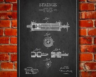 1890 Syringe Canvas Art Print, Wall Art, Home Decor, Gift Idea