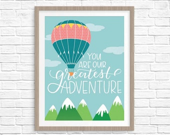 SALE You Are Our Greatest Adventure Digital Art Print