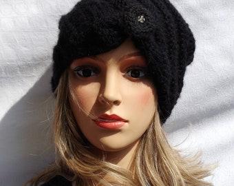 Black Soft merino/Alpaca Cap