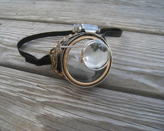 Steampunk Monocle Gold Compass