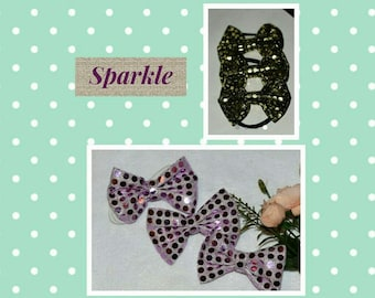 Pink or black & gold Sparkle bows