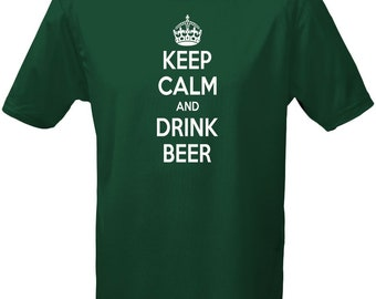 Keep Calm And Drink Beer Mens T-Shirt 10 Colours (S-3XL) by swagwear