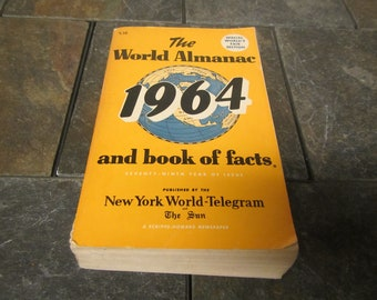 1964 The WORLD ALMANAC and Book of Facts * Published by New York World-Telegram