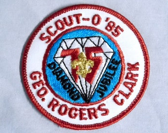 Boy Scout Embroidered Patch - Diamond Jubilee, Scout-O '85 - Geo Rogers Clark