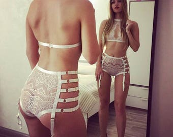 Lingerie, lingerie, underwear, sexy, gift, sexy, black, white, bra, panties, set, string, erotic, lace, garter, bed linen