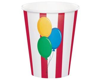 Circus Cups - Circus Party Cups, Circus Birthday, Carnival Birthday Party Supplies, Carnival Cups, Big Top Circus Decor, Circus Baby Shower