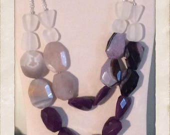 Chunky Purple Agate necklace (free shipping)