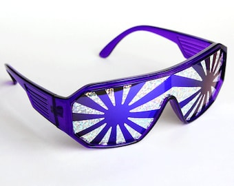 Rasslor Silver Star Burst Shield Sunglasses
