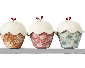 Kit Tilda Cute Cupcakes, Pincushion