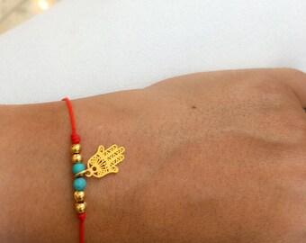 Red String Bracelet Hamsa Bracelet   Red String Evil Eye Bracelet   Hamsa Gold Filled Bracelet   Protection Bracelet