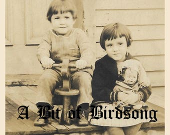 Antique Photographs Download Printable:  Children in Snow, Spangs Truck, Baby with Kitten, Vintage Children Photographs, Vintage Photos