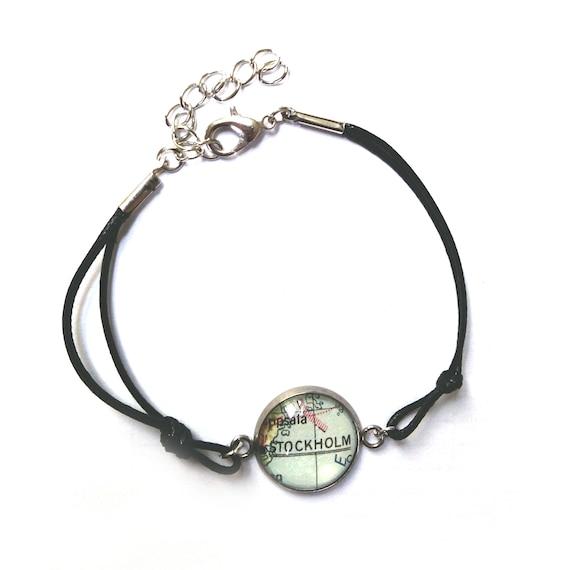 Personalized World map bracelet - Europe variations