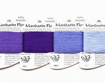 Mandarin Floss 2.25 Each, Rainbow Gallery Mandarin Floss, Embroidery Floss, Threads, Yarns, Rainbow Gallery Threads, Rainbow Gallery Yarns