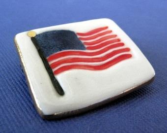Épinglette du porcelaine drapeau USA