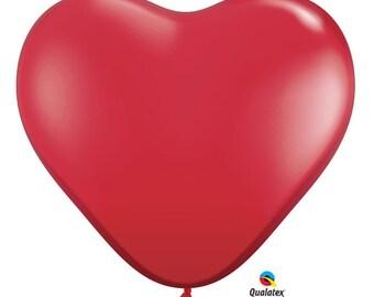 Giant Latex Balloon Heart 3 ft