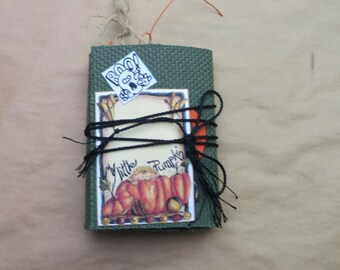 Happy Halloween Mini Junk Journal/Notebook/Writers/TN/Scrapbook/Handmade/Sketchbook/Dream/Gratitude Journal