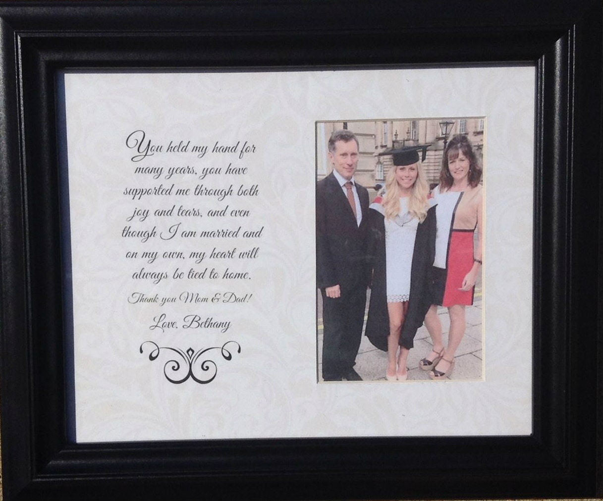 Graduation Graduate Custom Picture Frame for Parents