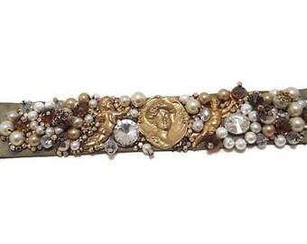 Art Nouveau Choker - Art Nouveau Necklace - Art Nouveau Necklace Vintage - Pearl Choker Necklace - Pearl Choker - Vintage Pearl Choker