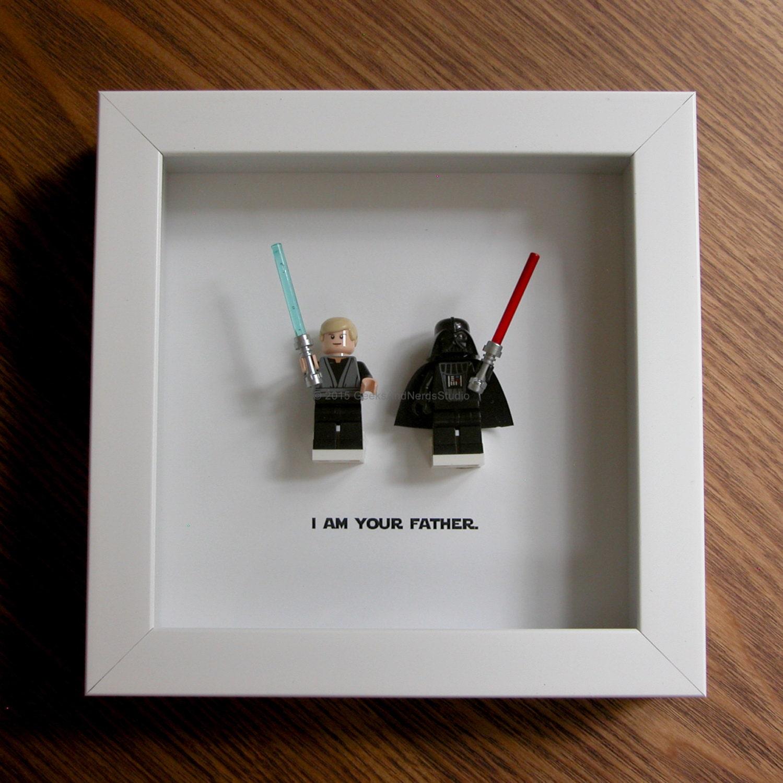 Star Wars Framed - Star Wars Wedding - Darth Vader & Luke Skywalker ...