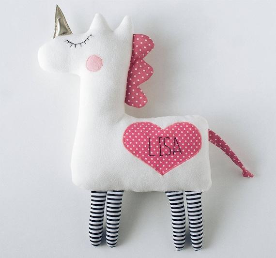 Personalized baby gifts personalized unicorn plush unicorn like this item negle Gallery