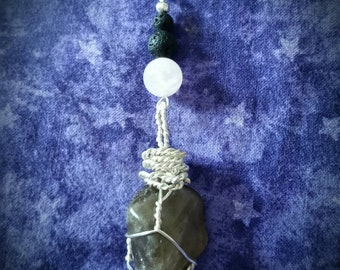 Crystal Essential Oil Diffuser Pendant Necklace
