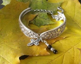 Bracelet Met Rose MEOI w/ Cross and Winged Heart