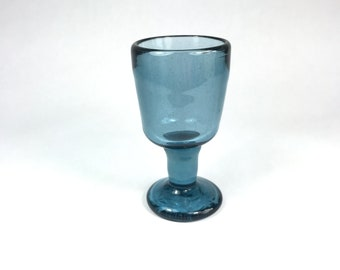 William Worcester Hawaii Blue Glass Goblet