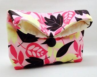 Foldover clutch, Fold over bag, clutch purse, evening clutch, wedding purse, bridesmaid gifts - Leaves (Ref. FC13)