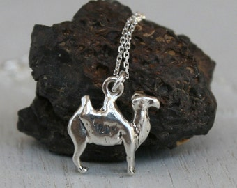 Sterling Silver Camel Necklace, Humped Camel Necklace